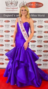 Miss England 2017/2018 wearing an outfit from Bella Donna Boutique