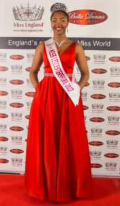 Miss Leicestershire 2017 wearing an outfit from Bella Donna Boutique