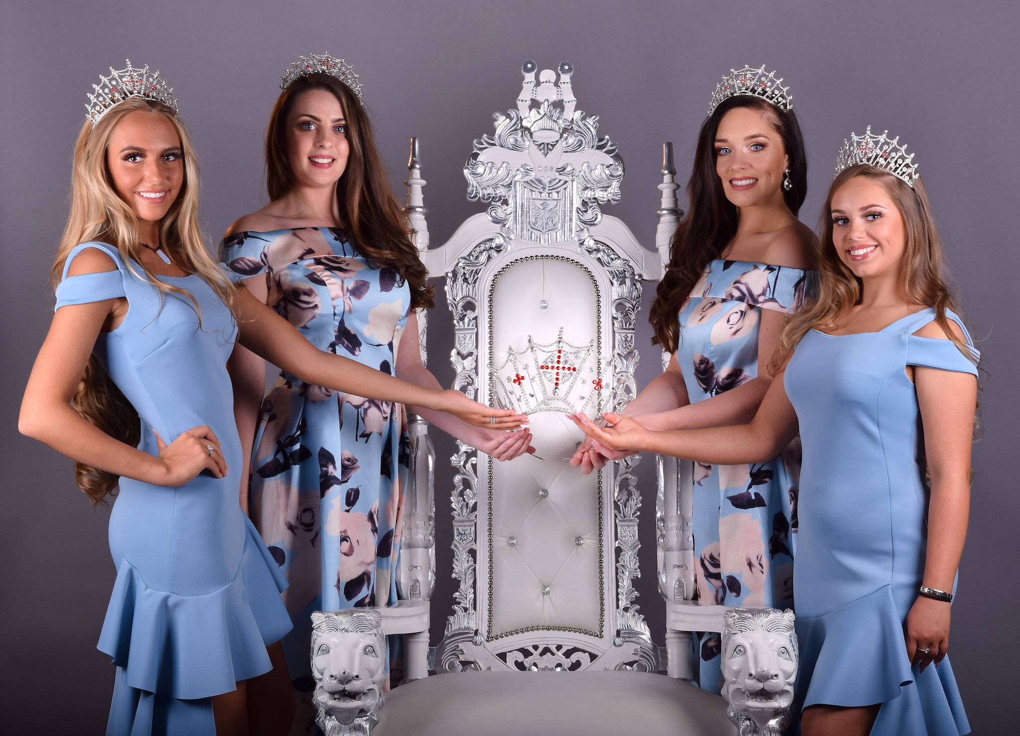 Miss England Contestants trying on their outfits