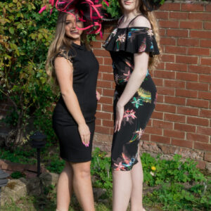 Race dresses and fascinators