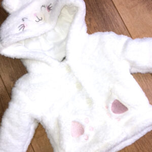 Baby girls cat design jacket with hood