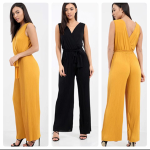 Jumpsuit available in black or yellow
