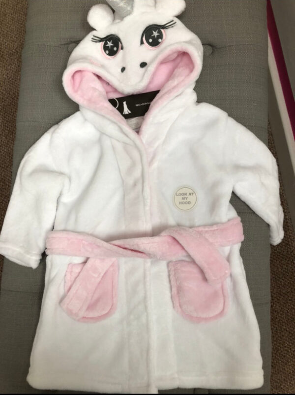 baby Unicorn dressing gown