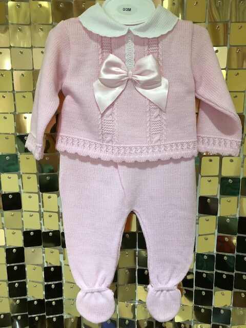 Baby Pink Knitted two piece set