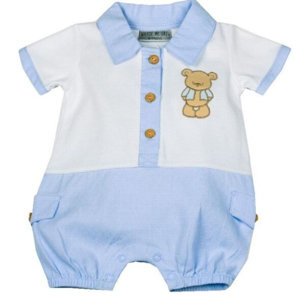 Baby Boys Teddy Romper