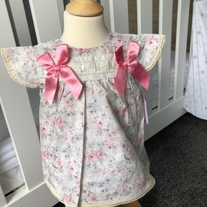 Baby girls Floral dress & pants with lace & bows