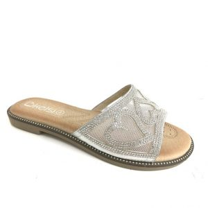 Ladies diamante Flats