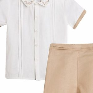 boys smart casual shirt & shorts