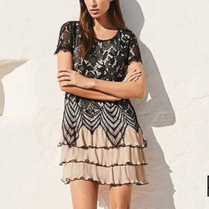 Italian Designer Lace Occasion Dress