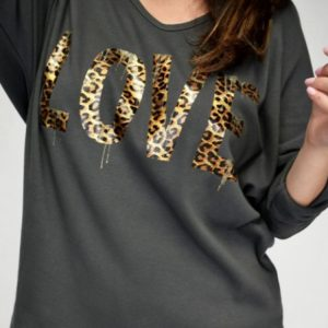 Animal Love Print Made In Italy Top