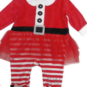 Baby Girls Cchristmas Velour All in One