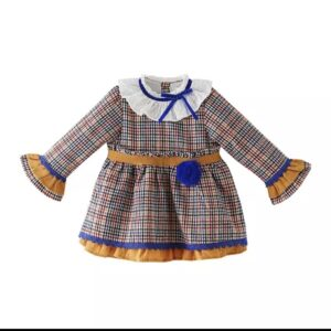 Checked party dress