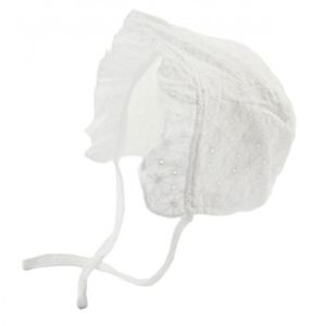 broderie Anglaise Bonnet with lace