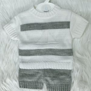 Boys knitted top and shorts