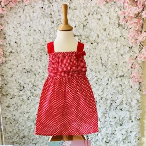 Tutto Piccolo Girls Red Checked Summer Dress